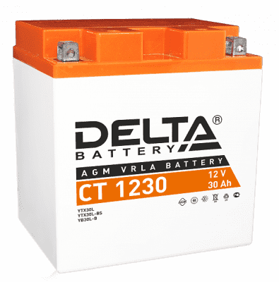 DELTA СТ-1230 (30Ah) (YTX30L-BS) (уп.2 шт)