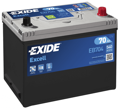 Exide EXCELL 70Ah 540A оп Asia EB704